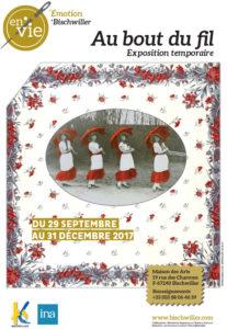 Affiche de l'exposition Au bout du fil à Bischwiller