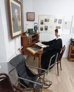 Scène retraçant la vie quotidienne des résidents au musée du Sonnenhof à Bischwiller